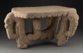 Pre-Columbian:Stone, A Magnificent Flying Panel Metate or Throne...