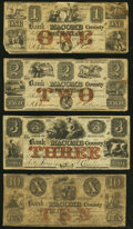 Obsoletes By State:Michigan, Mt. Clemens, MI- Bank of Macomb County $1; $2; $3; $10 Apr. 1, 1858 Very Good or Better.. ... (Total: 4 notes)