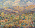 Paintings, Alfred Gwynne Morang (American, 1901-1958). Gold Mountains. Oil in board . 16 x 20 inches (40.6 x 50.8 cm). Signed lower...