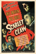 Movie Posters:Mystery, The Scarlet Claw (Universal, 1944). Fine+ on Linen.