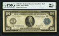 Large Size:Federal Reserve Notes, Fr. 1091 $100 1914 Federal Reserve Note PMG Very Fine 25.. ...