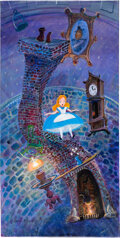 "Animation Art:Concept Art, Alice in Wonderland ""Floating in Won..."