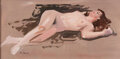 Animation Art:Production Drawing, Nude Study by Peter Ellenshaw (c. 1960s). A stunni...