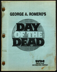 Day of the Dead by George A. Romero (United Film Distribution, 1984). Fine/Very Fine. Original Third Version Second Draf...