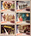 """Movie Posters:Science Fiction, Rocketship X-M (Lippert, 1950). Fine/Very Fine. Title Lobby Card & Lobby Cards (5) (11"""" X 14"""").. ... (Total: 6 Items)"""