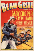 """Movie Posters:Adventure, Beau Geste (Paramount, 1939). Very Fine on Linen. One Sheet (27.5"""" X 41"""") Style A.. ..."""