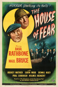 """Movie Posters:Mystery, The House of Fear (Universal, 1945). Very Fine+ on Linen. One Sheet (27"""" X 41"""").. ..."""