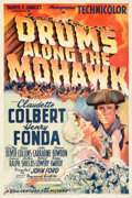 """Movie Posters:Adventure, Drums Along the Mohawk (20th Century Fox, 1939). Very Fine- on Linen. One Sheet (27"""" X 41"""") Style B.. ..."""