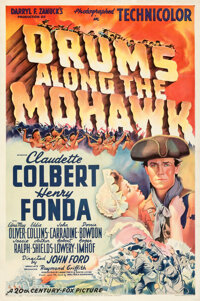 """Drums Along the Mohawk (20th Century Fox, 1939). Very Fine- on Linen. One Sheet (27"""" X 41"""") Style B"""