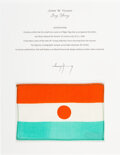 Explorers:Space Exploration, Gemini 10 Flown Flag of the Niger (Republic of the Niger) ...