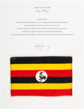 Explorers:Space Exploration, Gemini 10 Flown Flag of Uganda (Republic of Uganda) from the John W. Young Collection, with Letter of Certification. ...