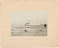 """Explorers:Space Exploration, Orville Wright Signed """"First Aeroplane Flight"""" Photo. ..."""