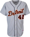 Baseball Collectibles:Uniforms, 2007 Ivan Rodriguez Game Worn Jackie Robinson Day Detroit ...
