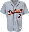 Baseball Collectibles:Uniforms, 2004 Ivan Rodriguez Game Worn Detroit Tigers Jersey.
