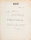 Explorers:Space Exploration, Robert H. Goddard 1938 Typed Letter Signed Regarding Early...
