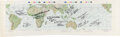 Explorers:Space Exploration, Apollo I Mission Chart Signed by 9 Apollo Astronauts, Expr...