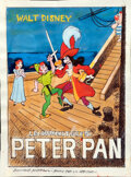 "Movie Posters:Animation, Peter Pan by Guiliano Nistri (RKO, 1953). Very Fine. Signed Original Mixed Media Proposal Artwork on Paper (9"" X 12"").. ..."