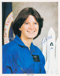 Explorers:Space Exploration, Sally Ride Signed Astronaut Candidate Color Photo....