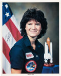 "Explorers:Space Exploration, Sally Ride Signed STS-7 Color Photo. An 8"" x 10"" ..."