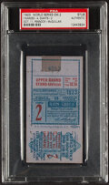 Baseball Collectibles:Photos, 1923 World Series Game 2 Ticket Stub, Giants vs. Yankees - PSA, Authentic....