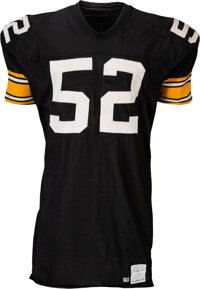 1978-79 Mike Webster Game Worn, Signed & Inscribed Pittsburgh Steelers Jersey with Back-To-Back Super Bowl Seasons U...
