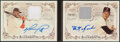 Baseball Cards:Singles (1970-Now), 2016 Topps Allen & Ginter David Ortiz/Carl Yastrzemski Double Autograph Relic Book Card #DBC-OY - Serial Numbered 6/10....