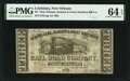 Obsoletes By State:Louisiana, New Orleans, LA- New Orleans, Jackson & Great Northern Rail Road Company $3 Nov. 16, 1861 PMG Choice Uncirculated 64 EPQ....