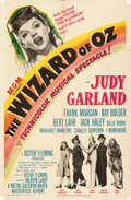 Movie Posters:Fantasy, The Wizard of Oz (MGM, R-1949). Folded, Fine+. One...