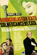 "Movie Posters:Film Noir, Sunset Boulevard (Paramount, 1951). Rolled, Fine/Very Fine. Full-Bleed Finnish Poster (15.5"" X 23.75"").. ..."