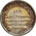 (1848-52) Chicago, Illinois, C.N. Holden & Co., M. ILL-16 MS67 NGC. Silvered brass, plain edge. Ex: Donald G. Partri...