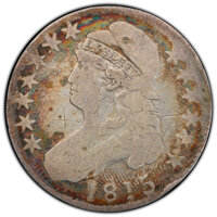 1815/2 50C O-101a, R.3, -- Damage -- PCGS Genuine. VG Details. Mintage 47,150. From The Ed Leigh McMillan Collection...(...
