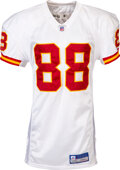 Football Collectibles:Uniforms, 2004-05 Tony Gonzalez Game Worn & Signed Kansas City Chief...