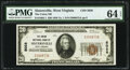 National Bank Notes:West Virginia, Sistersville, WV - $20 1929 Ty. 1 The Union National Bank Ch. # 5028 PMG Choice Uncirculated 64 EPQ.. ...