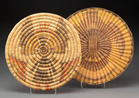 Two Hopi Basketry Plaques... (Total: 2 )
