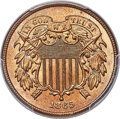 Two Cent Pieces, 1865 2C Fancy 5 MS66+ Red PCGS. CAC. Ex: Simpson. ...