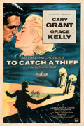 "Movie Posters:Hitchcock, To Catch a Thief (Paramount, 1955). Fine+ on Linen. One Sheet (27"" X 41"").. ..."