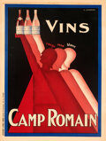 "Movie Posters:Miscellaneous, Vins Camp Romain (1930s). Very Fine- on Linen. French Grande (47.25"" X 63"") Claude Gadoud Artwork.. ..."