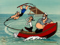 "Animation Art:Limited Edition Cel, ""Popeye Waterski"" Popeye, Olive Oyl and Bluto Limited Edition Cel Signed by Myron Waldman (King Features, 1991)...."