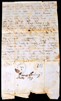 A Group of Four Texas and Virginia Letters and Documents
