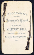Military & Patriotic:Spanish American War, Programme: Governors Guard Annual Military Ball....