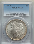 Morgan Dollars: , 1891-S $1 MS64 PCGS. PCGS Population: (2367/696). NGC Census: (1487/251). CDN: $400 Whsle. Bid for NGC/PCGS MS64. Mintage 5...