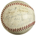 Autographs:Baseballs, 1937 St. Louis Cardinals Team Signed Baseball. Three years removedfrom the glorious Gashouse Gang World Championship seaso...