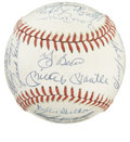 Autographs:Baseballs, 1961 New York Yankees Team Signed Reunion Baseball. The OAL( Brown) baseball is graced with signatures of the 1961 New Yor...