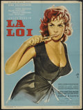 "Movie Posters:Drama, La Loi (MGM, 1960). French Affiche (23.5"" X 31.5""). Also known as The Law. Drama.."