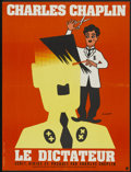 "Movie Posters:Comedy, The Great Dictator (United Artists, R-1968). French Petite (23.5"" X 31.5""). Comedy...."