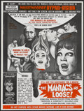 """Movie Posters:Horror, The Maniacs are Loose (Morgan-Steckler, 1964). Poster (21"""" X 28""""). Horror...."""