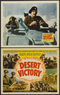 """Movie Posters:Documentary, Desert Victory (20th Century Fox, 1943). Title Lobby Card and Lobby Card (11"""" X 14""""). War Documentary.... (Total: 2 Items)"""