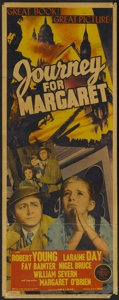 "Movie Posters:War, Journey for Margaret (MGM, 1942). Insert (14"" X 36""). War...."