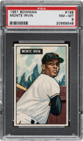 Baseball Cards:Singles (1950-1959), 1951 Bowman Monte Irvin #198 PSA NM-MT 8. ...