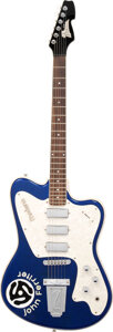 Musical Instruments:Electric Guitars, circa 2010 Italia Modena Blue Sparkle Solid Body Electric Guitar, Serial #N/A.. ...